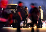 (AURORA, Colo., March 9, 2005)  Aurora Police converge on the 18000 block of E. Mansfield Ave. in...