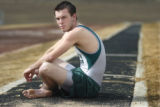 Lakewood, CO D'Evelyn senior Dustin Pittman is the defending state champ in the triple jump. RICK...