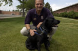 (LAKEWOOD, Colo. June 9, 2004)  Doug Lambert, ATF Agent and his dog Pepper, a bomb sniffing...