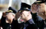 (DENVER, COLO.,  MARCH 3, 2005)  Denver Police Chief Gerry Whitman, (cq Gerry Whitman), right,...