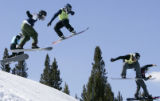 (COPPER MOUNTAIN, March 3, 2005) -(L-R) Jonte Grundelius, Mark Schulz, Jason Smith, Xavier De La...