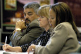 (INVERNESS, Colo., June 9, 2004) Members of the Colorado Division of Gaming (lt-rt) Mark L....