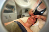(DENVER, CO. MARCH 7, 2005) Amanda Phillips, 29, of Denver relaxed while getting a facile from...