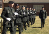 Fort Carson, Colo.-(March 9-2005)- Members of the Fort Carson Honor Guard march away after a joint...