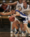 Denver 03/09/2005 -- Broomfield Eagles Caitlin Stem, #31, tries to control the ball against...