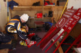 (Eldora Colo., March 27, 2005)  Bob Foss,(cq) in the ski shack at Eldorar Ski Area March 28, 2005,...