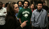 Aurora- /3-11-2005  Shalia Lindsey, Mid-Western Regional Youth Director for the NAACP, talks to CU...