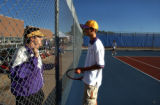 (CHERRY CREEK, CO. OCTOBER 6, 2004) (Lt. to Rt.) North High tennis team coach Brian Dino, coaches...
