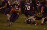 (ARVADA, Colo., October 7, 2004) Wildcats #20 Scott Sanchez, brings the ball upfield in the first...