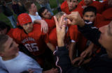(DENVER, Co., SHOT 9/28/2004) Members of the Colorado School of the Deaf and Blind football team...