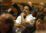 Denver, Colo., {October 7, 2004})   Larry martinez, union representatives of UFCW Local 7 listens...