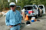 (10/07/04, Rocky Mountain National Park, CO)   Don Campbell, with the United States Geological...
