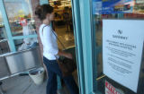 Boulder, Colo., photo taken October 12, 2004- A shopper at the Safeway located in a strip mall at...
