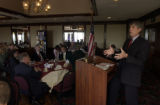 (THORNTON, Colo., October 12, 2004) Mark Udall speaks to the club gathering.  Brittany Hill...