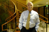 (LAKEWOOD Colo., October 14, 2004)   John Schere, CEO, stands by the stairway of Video Professor...