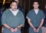 Denver, Co.,  October 29, 2004.  L to R: Edward Herrera was sentenced to four consecutive life...