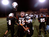Aurora, Colo., photo taken October 29, 2004- Gateway's Jake Sheffield (#72 left) and Steve Artiga ...