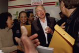 (Northglenn, Colo., Oct.  30, 2004) Ken Salazar rallies campaign workers  in the Victory '04...