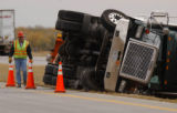 Near Limon, Colo., photo taken October 17, 2004- No one was injured when this semi-truck lost...
