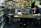 (EMPIRE Colo., November 2, 2004)  Rayda Okaley ( left - Dem. Poll Watcher) talks to Bonnie Hunt...
