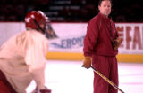 Denver, Colo., photo taken October 19, 2004-Denver University Pioneers Hockey head coach George...