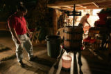 NYT41 - (NYT41) PIEDMONT, Calif. -- October 28, 2004 -- CALIF-HOME-VINTNERS-2 -- Mike Masero,...