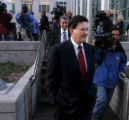 JPM609 Former Qwest CEO Joe Nacchio leaves federal court on Tuesday afternoon, Dec. 20, 2005 after...