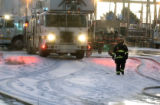 Denver Firefighters battled a blaze at Colorado Industrial Painting, 12,555  East 37th Avenue,...