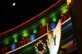 An angel stands atop a Nativity Scene at the Denver City and County Building on Dec. 7, 2005....