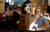 (DENVER., Colo., Dec. 23, 2005) Russ Myers (cq) of Morrison has lunch at the New York Deli in...