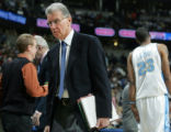 SPECIAL TO THE ROCKY MOUNTAIN NEWS--Denver Nuggets assistant coach Tim Grgurich heads back to his...