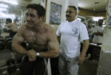 (NYT33) BAGHDAD, Iraq -- Dec. 29, 2005 -- IRAQ-ARNOLD-GYM-3 -- Former Iraqi bodybuilding champion...
