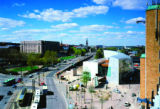 Steven Holl's Kiasma: Museum of Contemporary Art curves through a downtown area in Helsinki,...