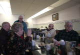 (LT. to RT.) Sweet Home, Oregon residents and Mollies Bakery N Diner regulars Dona Smith (CQ),...