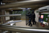 (NYT26) NEW YORK, Dec. 20, 2005 -- NY-TRANSIT-18 -- The Union Square subway station in New York is...