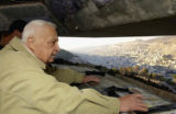 FILE (NYT53) NABLUS, West Bank -- Jan. 4, 2006 -- ISRAEL-SHARON-14 -- Prime Minister Ariel Sharon...