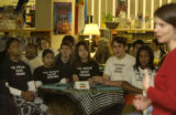 (DENVER, Colo., April 23, 2004)  Hinkley High School International Baccalaureate students donated...