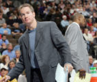 SPECIAL TO ROCKY MOUNTAIN NEWS--Denver Nuggets assistant coach John Welch looks on in the first...