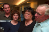 (FT.COLLINS, Colo., April 13, 2004)The Rush family gather to speak briefly to the media after the...