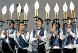 "14, fourth grade Children, from the Herzl-RMHA making up the Herzl-RMHA Choir, sing ""Rock A ..."