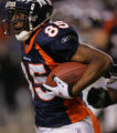 (((KEE PLAY)))Denver Broncos Ashlie Lelie runs an end around for a first down in the fourth...