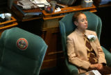 (Denver, Colo., May 4, 2004) State Representative Rosemary Marshall relaxes as the nuances of...
