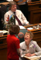 (Denver, Colo., May 4, 2004) State Representatives Tambor Williams, left, and Gayle Berry have a...