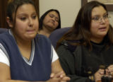 Mother and daughters relive their tragedy from the FireThunder Case. (LEFT, Miranda Macias,20, cq,...