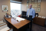 Portrait for In My Office feature on Attorney Don Bain at his office at 1700 Lincoln St. in...