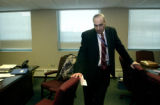 (AURORA., Colo., Nov. 28, 2005) Aurora's new police chief Daniel Oates  stands in his office...