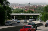 Traffic makes its way through the tight curves on I-25, June 14, 2006, in Pueblo. Businesses...