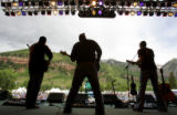 (L-R) Craig Miner, Colin Potts, and Ryan Shupe, of the Ryan Shupe and the Rubberband, got the...