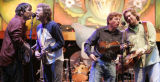 (L-R) Bela Fleck,Sam Bush, Tim O'Brien, and Jerry Douglas play an encore  as a members of the...