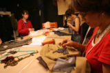 (Lt. to Rt.) Colorado Shakespeare Festival Costume Designers Kitty Wilson (CQ), 21, of Boulder,...